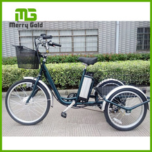 Best 36v electric trike with basket strong lithium battery 3wheel electric tricycle for elders