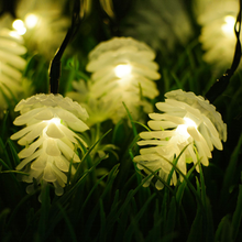 2 working modes 30 LED Solar Pine Cone String Lights Christmas Light