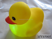 Promotional light up rubber ducks bulk rubber ducks floating light up rubber duck