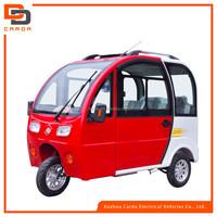full closed electric tricycle /e-rickshaw for passenger with 3 wheels for sale