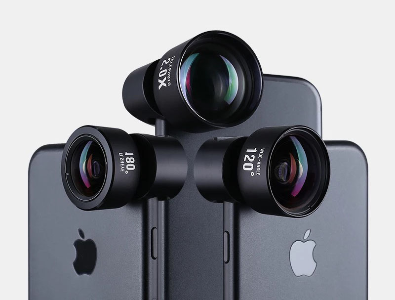 High quality 4 in 1 cell phone camera lens kit with universal clip lens for  smart phone lens