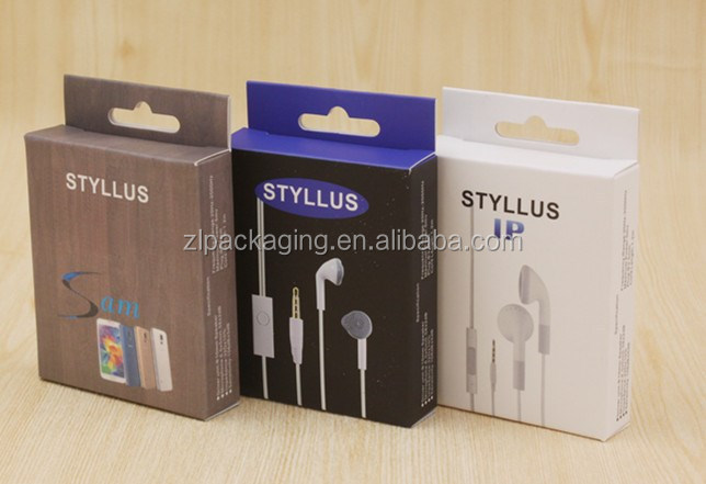 ear phone paper packing box