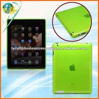 For Apple ipad3 the New Ipad New Model Neon Green Hotsale New TPU case TPU Skin Cover Case