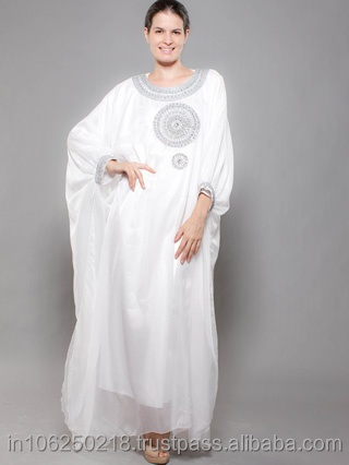 High Quality Wholesale India pakistan kaftan dress Champagne Long Sleeve Beaded Evening Muslim Dubai Abaya Arabic Kaftans k695