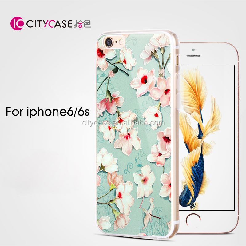city&case multicolored dry flower phone case cover for iPhone 6 6s