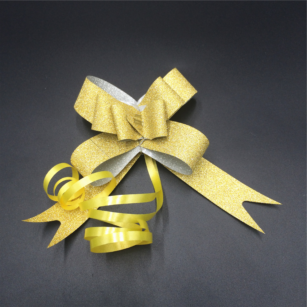 OEM design gift packaging ribbons and bows ,butterfly pull bows