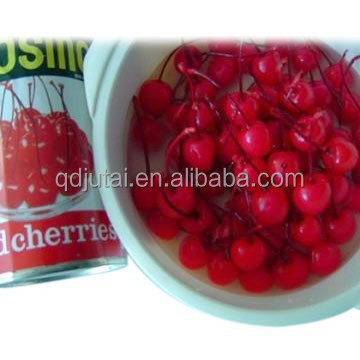 New crop organic canned cherries without stem/with stem