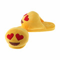 2017 Soft Plush custom emoji slippers for women