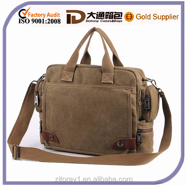 Vinitage Canvas Travel Shoulder Bag For Men