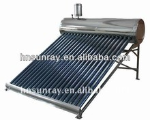 Haining sunray unpressurized china product solar water heater