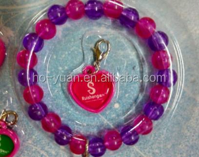 Cheap custom Sale Plastic Bead Bracelets With Replaceable Pendant
