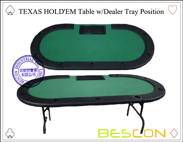 professional texas holdem poker table with dealer position