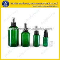 wholesale green glass essential oil spray bottles