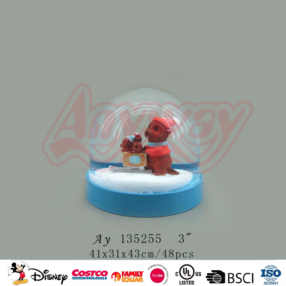 Marmot figure Custom Christmas Santa Snow Globe