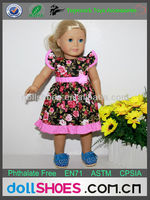 flower pattern18 inch baby dolls clothing american girl doll clothes