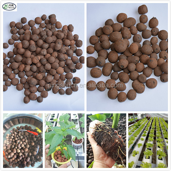 Decoration Plants Garden Ball 8-16mm Expanded Clay Pebbles LECA for Hydroponic and Aquaponic