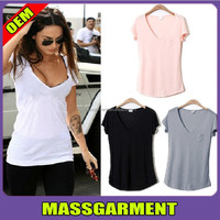 women blank fashion new trend style t shirt