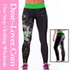 women 2015 Wholesale latest stylish Print Stretch seamless legging with holes