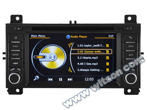 WITSON JEEP GRAND CHEROKEE CAR RADIO WITH A8 CHIPSET DUAL CORE 1080P V-20 DISC WIFI 3G