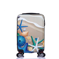 2016 latest fashion ABS+PC luggage with good look printing
