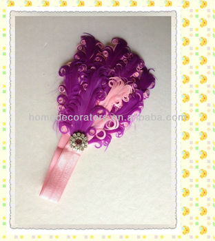 Infant Headbands with Feathers ,baby headhands