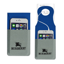 custom logo printed travel microfiber mobile phone charging holder pouch