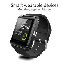 Cheap bluetooth watch for iPhone, u8 smart watch with TFT LCD, touch screen watch mobile phone