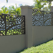Outdoor Laser Cut Aluminum Security Fence