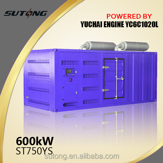 Competitive price by china brand Yuchai sound proof diesel generator