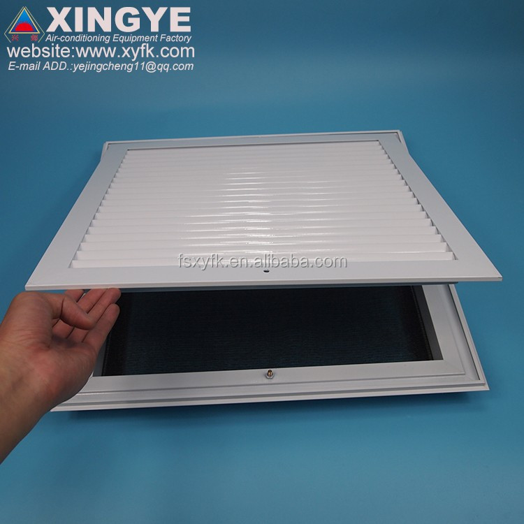 air conditioner anodized silver aluminum floor return vent Return Air Grille/ air vent with filter