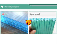 6mm 8mm honeycomb pc sheet pc used plastic building material
