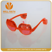 2016 new products sun glasses Yellow Red pumpkin led flashing for Halloween decoration