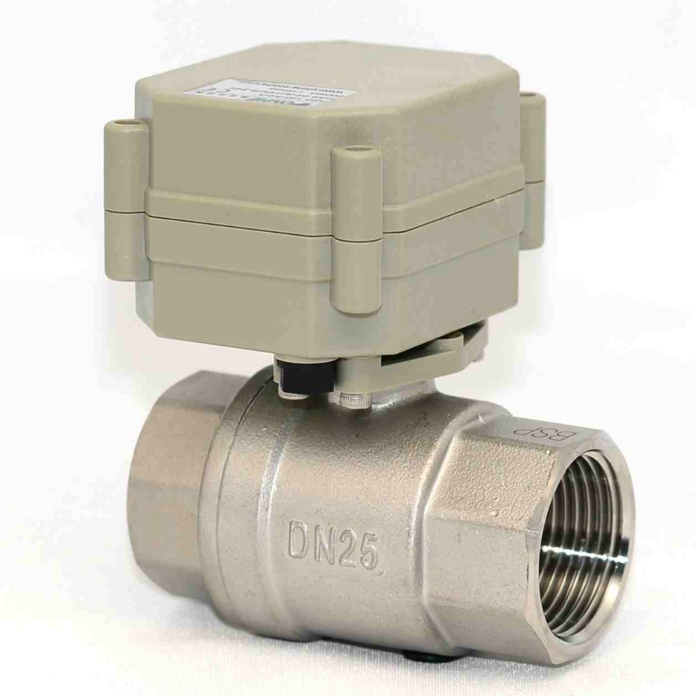 "OEM 2 Way DN25 1"" inch DC5V/12V/24V Motorized valve Electric Control stainless steel Ball valve"