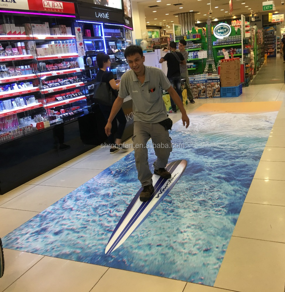 Custom Advertising Printing Removable 3d Floor Graphics Stickers