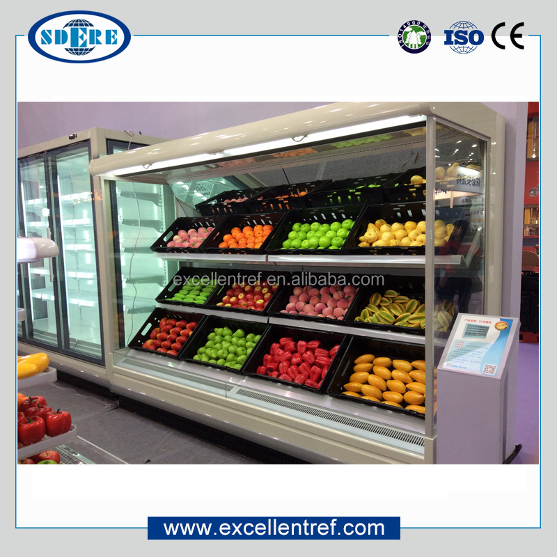 DMV1821O1 Supermarket Vegetable Display Cooler Used as Cold Equipment