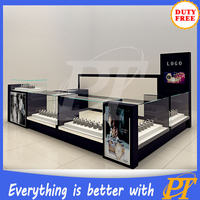 Most popular watch kiosk glass display shop counter design and jewelry kiosk for mall