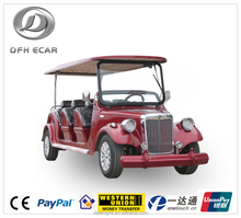 New luxury low speed electric 8 seats vintage car golf cart