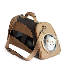 Space capsule shaped originality pet carrier breathable canvas backpack for cat dog outside travel portable bag pet products