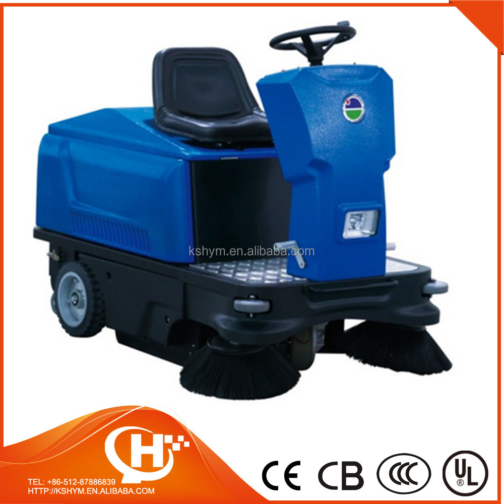 ride-on power broom sweeper