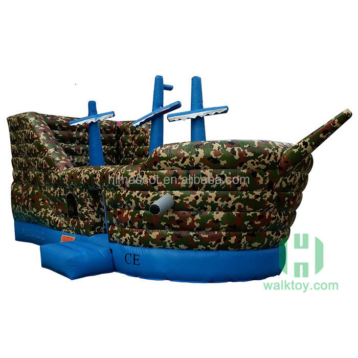 Cool warship design air Inflatable bounce for sale