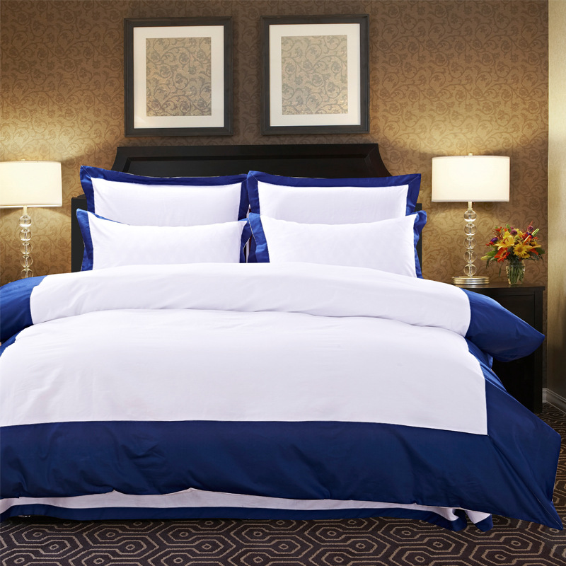 high qualty 400TC Egyptian cotton simple hotel bedding set/bulk bed sheets