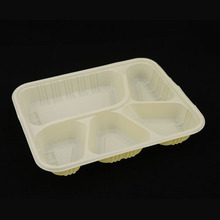 Disposable Recyclable 5 Compartments PP Lunch Blister Tray