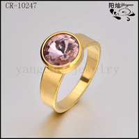 Factory direct sale stainless steel rings real stone jewelry