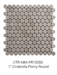 The Wholesale Price Polished Marble Stone Penny Round Mosaic Tiles
