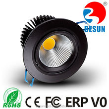 Most popular black/white/silver housing 75-80mm cut out 6w cob led downlight