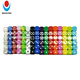 16MM Round corner colored plastic dot dice with one side is blank