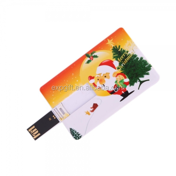 Christmas Flip Card USB Flash Drive / Santa Claus Flip Card USB Flash Drive / Christmas USB Flash Drive