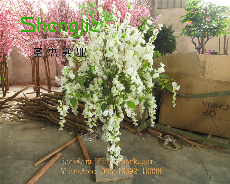 SJLJ0690 shengjie hot sale artificial table tree / artificial cherry blossom flower tree for centerpiece wedding table