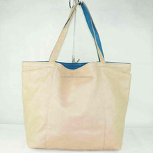 Ladies oversized dual-use leather tote bag 6 colors without zipper factory direct china supplier