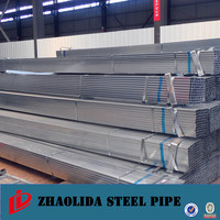 tianjin manufacturer ! pre-galvanized hollow section tube / pipe en10210 s235jr galvanized steel hollow section
